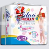 Super size L soft breathable leak-guard Baby infant Pull up diaper hand carry packing cheap price OEM ODM free sample
