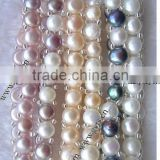 Cultured freshwater pearl italian nomination bracelets