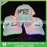 Embroider Logo Sport Cotton Flashing Led Hat, Led Light Hat, Light Up Hat