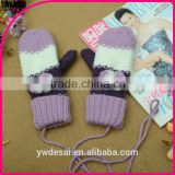 hot sale long style cycling gloves ladies Hang-neck girl gloves knitting