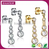 Wholesale Products Gold And Silver Diamond Chandelier Earrings