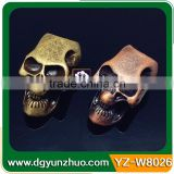 Metal Skull Beads For 550 Paracord Knife Lanyards