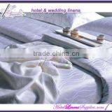300TC used hotel bed sheets duvet covers with water wave pattern for 5-star luxurious hotels