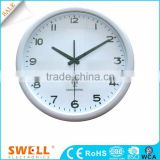 analog advertise big wall clock of hand , glass clock face