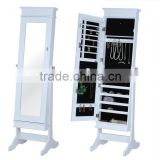 Furniture Mirrored Jewelry Cabinet,Full-length Mirror Showcase,Standing Mirror With Jewelry Storage