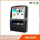 Wall Mount 19inch Touch Screen Electronic Billing System