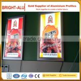 Various design aluminum light box advertising backlit billboard and aluminium LED panel lighting display profile