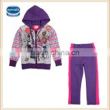 5-9Y (FG4631) New design nova kids children clothes printed kids girls winter clothes sets wear
