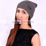 Wholesale Top Quality Insurance Custom Hats Winter bucket hat Warm Lady Crochet Hat With 10 Years Experience
