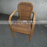 Rattan outdoor chair in bamboo looking