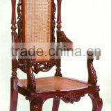 Lion Head Arm Chair Mahogany Indoor Furniture
