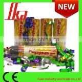 hot selling spring party popper, metalic streamer party cannon, confetti party popper