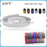 ANY DIY Nail Art Decoration Silver Color Wave Line Nail Sticker Wholesale                                                                                         Most Popular