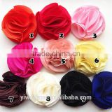 DIY Baby Girls 5cm Satin fabric Flower Hair Accessory For Bow No Clip 10Color
