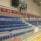 sport entertainment indoor retractable tribune telescopic bleacher folding plastic seating flex grandstand. portable bleacher