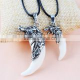 Tibet Punk Men's Cool Real Gothic Wolf Tooth Necklace Domineering Pendant