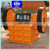 Hysan PE jaw crusher/ stone jaw crusher for the primary and secondary crushing of hard material