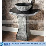modern bathroom outdoor natural stone pedestal sink                                                                         Quality Choice