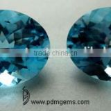 Sky Blue Topaz Semi Precious Gemstone Oval Cut Faceted Lot For Gold Ring From Wholesaler