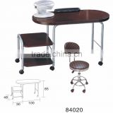 Portable nail table manicure table foldable manicure desk with stools