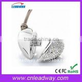 Low price jewelry love heart promotional gift USB flash pen