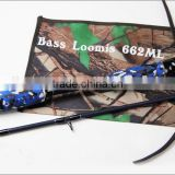 Weihai ILURE Bass Rod Bass Loomis 198cm Casting Carbon Fishing Rods