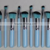 10pcs makeup brush set professional personalized fashion girl's makeup kit