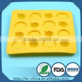 high quality high tensile-resistant OEM 12 holes silicone baby cake mould