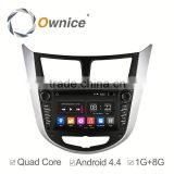 quad core Android 4.4 & Android 5.1 Ownice C180 navi system for Hyundai Verna Accent Solaris 2012 support OBD dvr