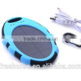 Mobile phone accessory 4000mAh mini solar battery charger price with keychain and led light indicator