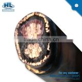 3cores 2cores 10mm2 low volatge Stranded Copper aluminum Wire PVC Insulated Fire resistant concentric power cable