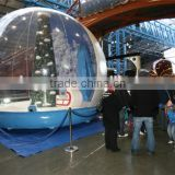 wholesale fashion inflatable human size snow globe with factory price