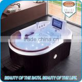 luxurious indoor bathtub bubble jets whirlpool Bathtub with TV
