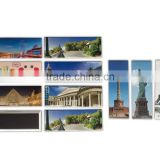 126*37mm beautiful in colors tin photo magnet tourist souvenir Hot sales creative tin photo magnet
