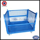 Long service life Foldable Steel weld customized Euro cage wire mesh for warehouse storage