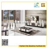 luxury marble top design wood living room furniture sets with tv cabinet, coffee table, dining room table and chairs