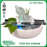 desktop ceramic glass decoration small features lucky feng shui decorative crafts glass water fountain