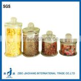 wholesale airtight glass tea jar with glass lid and Sealing ring