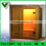 Vigor popular outdoor sauna steam room,fashion nudist sauna room,sauna bath wood room