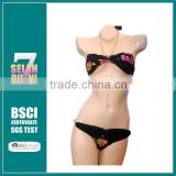 2015 New Wholesale flower print wiht metal bikini sets Lady hot sexy print swimwear with metal