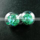 16mm round glass bottle dome with green star vial pendant wish charm DIY jewelry supplies 1820262