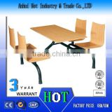Simple Fashion Stripe Schol Desk And Bench High Quality Dining Table Sets Factory Direct School Furniture