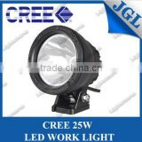 25w cree led driving light bars, cannon work light , 4x4 off road led driving light for Sand Rail Dune Buggy 5JG-CL120-25W