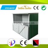 steel frame metal roof cheap bike storage shed