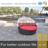rattan hotel lounge garden furniture outdoor with canopy