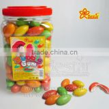 Colorful Olive Shape Fruity Flavour Bubble Gum Candy