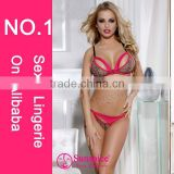 Sunspice Hot sales High quality underwear erotic lingerie sexy fancy bra panty set lingerie