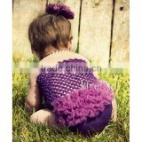 Girls Purple Crochet Tube Top Photo Prop 12M-3 Years