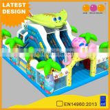 AOQI design cheap outdoor ocean theme inflatable play land combo Aquarium inflatble amusement park product for sale