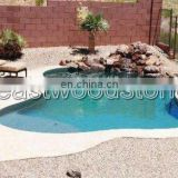 irregular big swimming pool stone coping